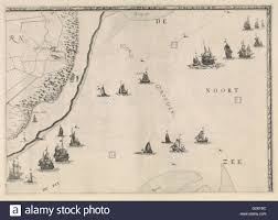 Map Of Holland Map Of The North Sea And The Coast Of Holland Jacob Quack 1665