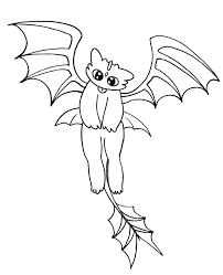 night fury toothless coloring pages