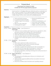 server resume template this is restaurant server resumes food service resume template