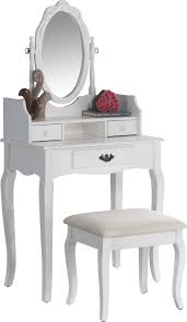 Oak Makeup Vanity Table Alcott Hill Emmett Ribbon Wood Makeup Vanity Set With Mirror