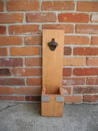 Personalized Wooden Gifts Wall Mounted Wooden Bottle Opener With Cap Catcher U2013 Woody Things Llc