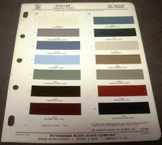 pontiac and tempest ditzler paint chips automotive finishes codes