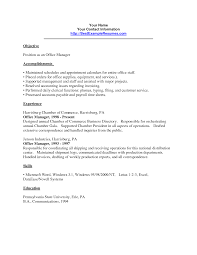 office manager resumes office manager resume sle objectives free billing sles