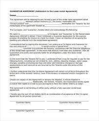 sample guarantor agreement for loan best resumes curiculum vitae