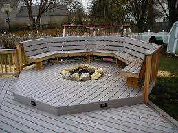 Fire Pit Mat For Wood Deck by Recessed Gas Fireplaces For Deck Recessed Firepit With Deck