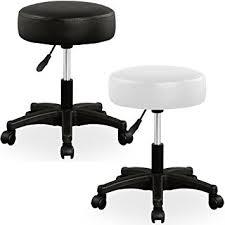 tabouret de bureau à roulettes tabouret blanc à roulettes pivotable 360 réglable en hauteur