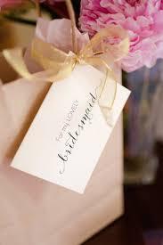 bridesmaids gift bags favors gifts photos bridesmaid gift tag inside weddings