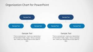 simple organizational chart template for powerpoint slidemodel