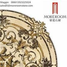 white marble floor medallion design ca ny fl tx nj