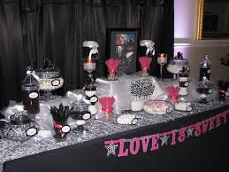 Pink And Black Candy Buffet by Pink Black U0026 White Wedding Candy Buffet Yelp