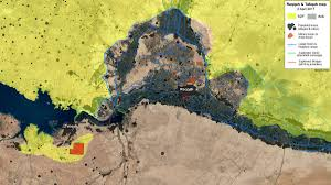 Syria Situation Map by Map Military Situation Around Raqqa Tabqa Area In Syria By
