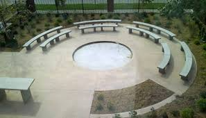 curved benches for outdoor classroom doty concrete
