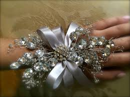 prom wrist corsage ideas prom wrist corsage silver wrist corsage for by thecrystalflower