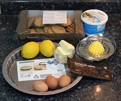 honey bee sweets ginger tart with lemon mascarpone cheese tart