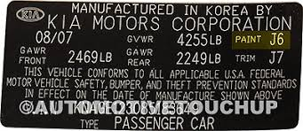 kia paint code locations touch up paint automotivetouchup