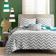 shop gray chevron quilt on wanelo
