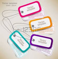 set of paper stickers labels tags vector template royalty free