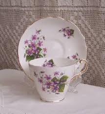 vintage regency english bone china porcelain cup and saucer pansy