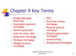chapter 9 advanced financing techniques1 new jersey real estate