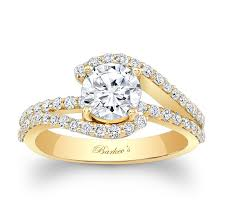 yellow gold diamond rings barkev s yellow gold engagement ring 7848ly