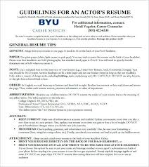 free acting resume template free acting resume template best acting resume template ideas on
