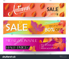 half price gift cards thanksgiving sale banners set autumn sale stock vector 724124218