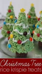 christmas tree rice krispie treats holiday kids food craft