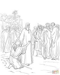 jesus healing the demon possessed man coloring page free