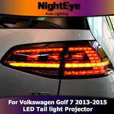 vw led tail lights nighteye vw golf 7 tail lights 2013 2015 golf7 mk7 led tail light