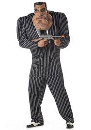 1920s Halloween Costumes Massive Mobster Costume Funny 1920s Gangster Halloween Costume