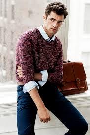 Burgundy Cardigan Mens How To Wear A Burgundy Crew Neck Sweater 77 Looks Men U0027s Fashion