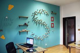 bright colors and creative wall decorations for modern office
