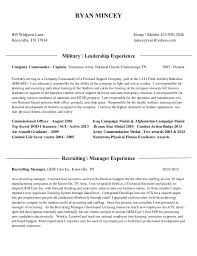 Military Experience Resume Ryan Mincey Resume 2015 Military