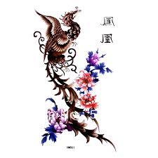 phoenix tattoos chest piece free ship 5pcs lot hm061 feminine