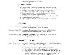 Sample Designer Resume by Interior Designer Resume Resume Example