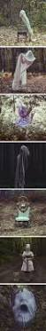 Halloween Ghost Decorations For Trees by Halloween Chicken Wire Ghost Dressed In Cheesecloth View 4 My
