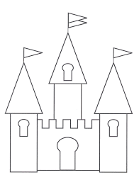castles to color for kids free coloring pages