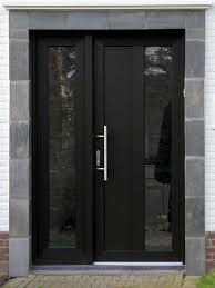 download black modern front door waterfaucets