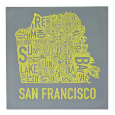 Sf District Map San Francisco Neighborhood Map Indie Made In The Usa