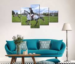 compare prices on horse framed art online shopping buy low price painting frame art poster wall picture home decor print on canvas 5 panel the horse racing for living room modern printing type