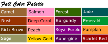 fall color pallette personal color palettes your most flattering colors