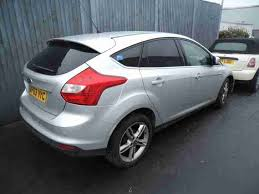 ford focus titanium silver ford damaged salvage 2014 focus titanium x tdci silver car for sale