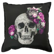 home decor on clearance kmart jaclyn smith halloween decorative pillow skull