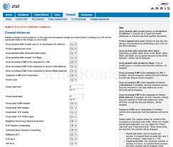Tcp Flags Arris Nvg599 Screenshot Firewalladvanced