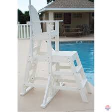 everondack medium lifeguard chair front ladder mlg 525
