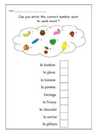 french printouts for children fruit french worksheets for