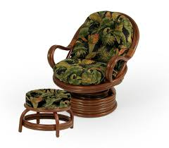 swivel chair with ottoman swivel rocker chair and round ottoman by palm springs rattan
