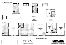 Skyline Manufactured Homes Floor Plans Sunwood F324c By Skyline Homes