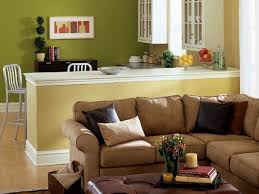 Green Table L Living Room Modern Classic Living Room Idea With Brown L Shaped
