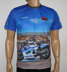 suzuki srad t shirt with logo and all over printed picture t